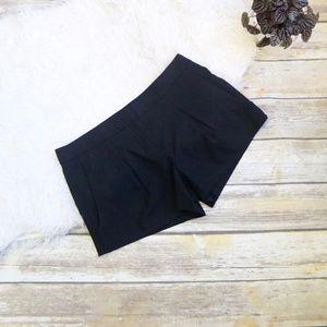 Theory Black Wool Shorts